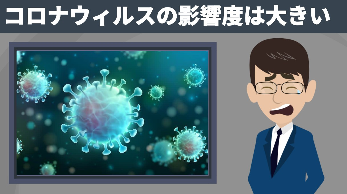 コロナウィルスの影響は大きい