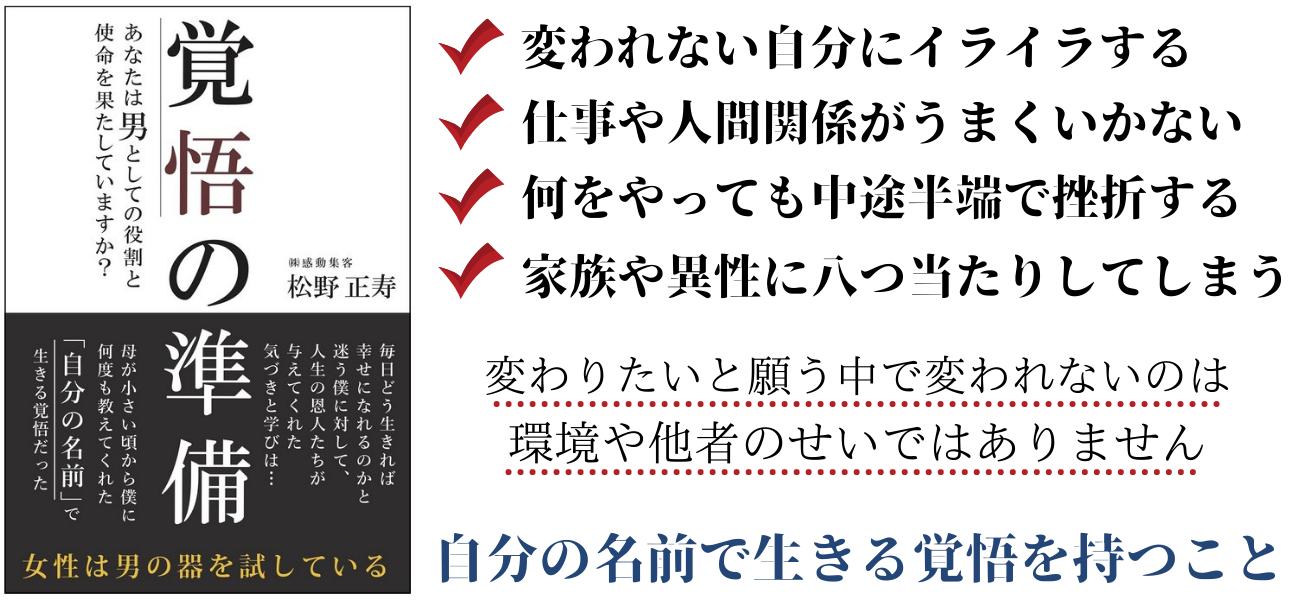 覚悟の準備松野正寿・KKロングセラーズ